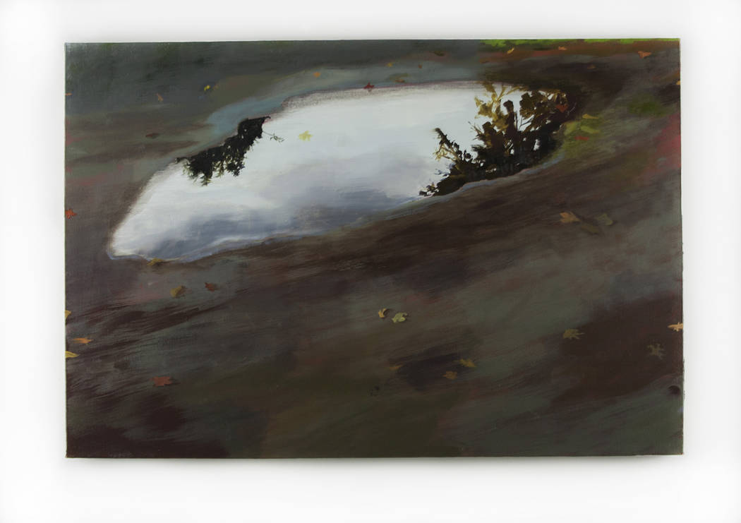 """College of Southern Nevada One of artist Shona Macdonald's """"Sky on Ground"""" paintings, featured in """"Overcast,"""" on display in the Fine Arts Gallery at the College of Southern Nevada, North Las Vegas."""