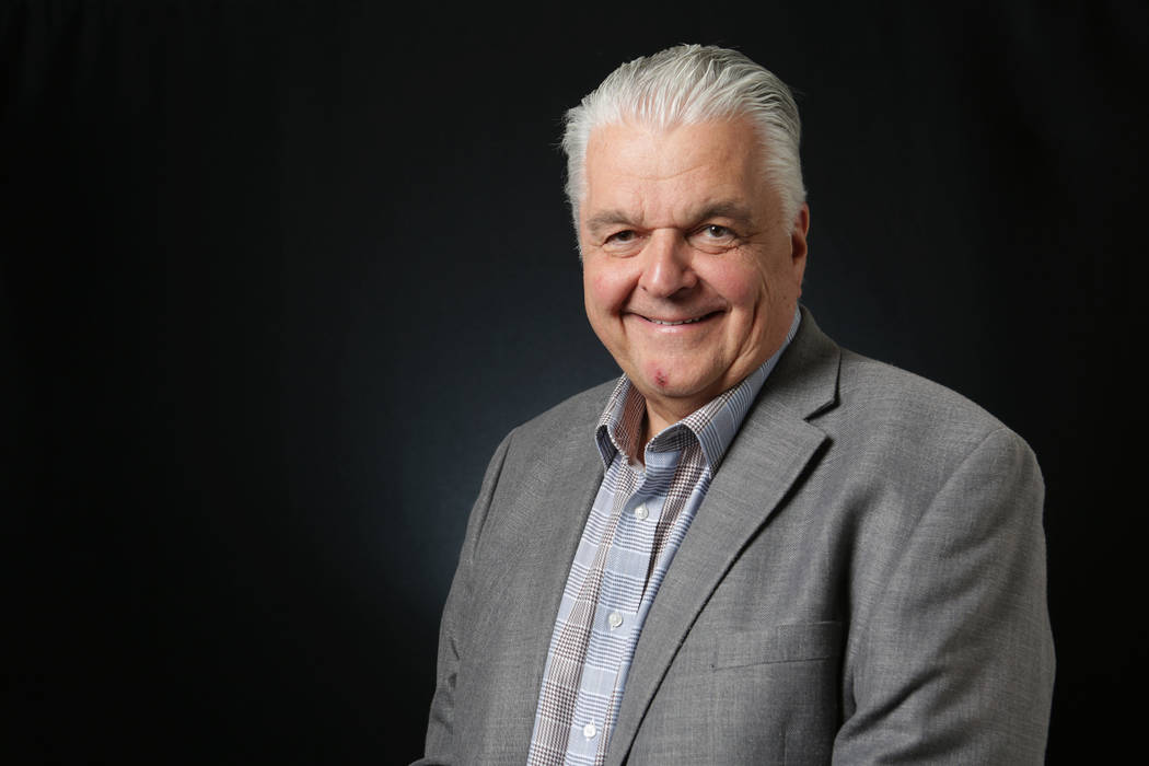 Steve Sisolak, Democratic candidate for Nevada governor (Michael Quine/Las Vegas Review-Journal) @Vegas88s