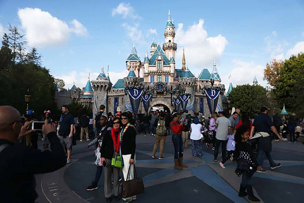 Disneyland in Anaheim, California, has shut down and decontaminated two cooling towers following an outbreak of Legionnaires disease that sickened 12 people. (Erik Verduzco/Las Vegas Review-Journa ...