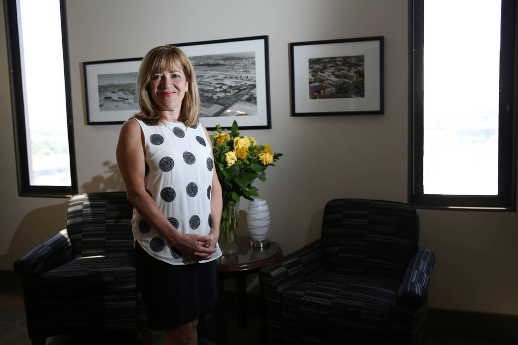 Marta Meana, acting president of UNLV, in her officer at UNLV in Las Vegas, Friday, July 6, 2018. Erik Verduzco Las Vegas Review-Journal @Erik_Verduzco