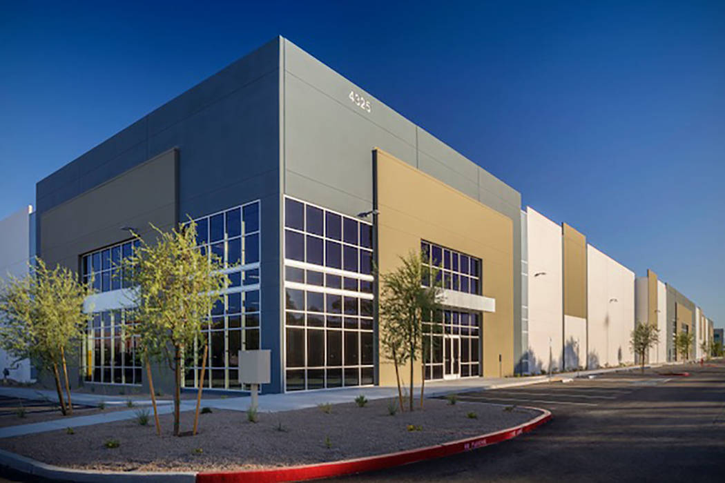 Matter Real Estate Group is developing industrial projects in the Las Vegas Valley, and its project at 4325 Corporate Center Drive in North Las Vegas, seen above, was recently completed. (MassMedia)