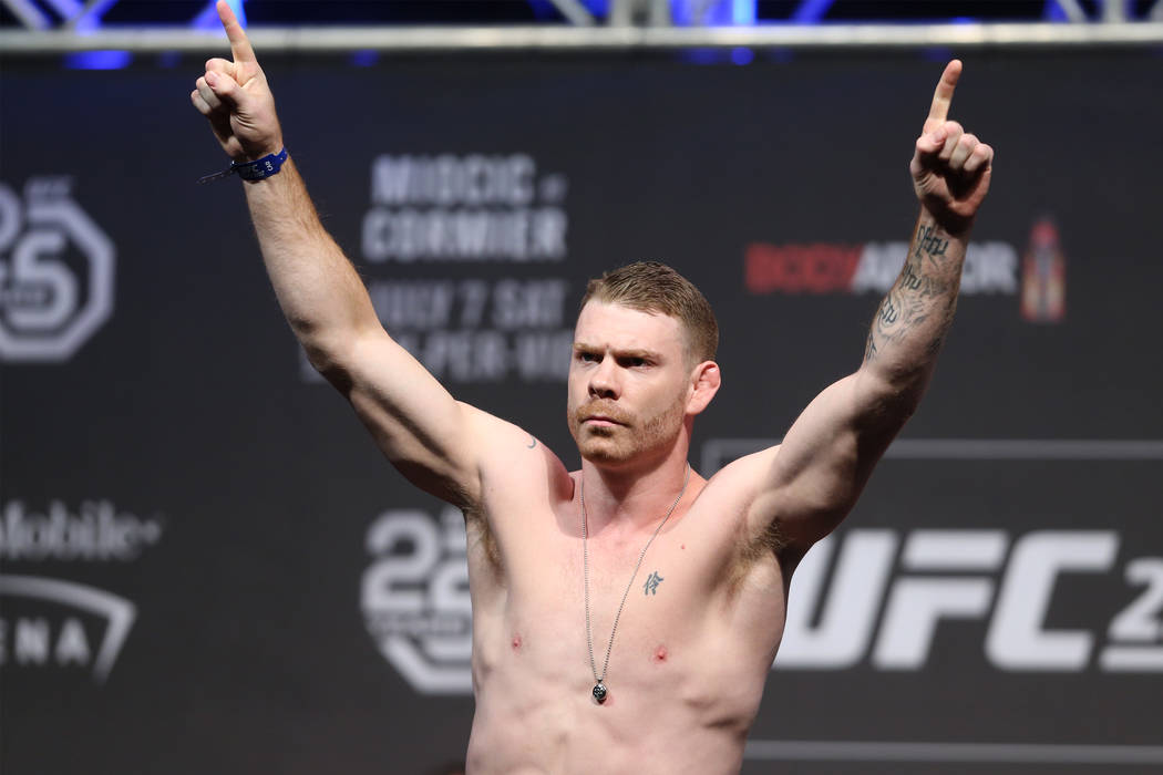 Paul Felder during the UFC 226 ceremonial weigh-in event at T-Mobile Arena in Las Vegas, Friday, July 6, 2018. Erik Verduzco Las Vegas Review-Journal @Erik_Verduzco