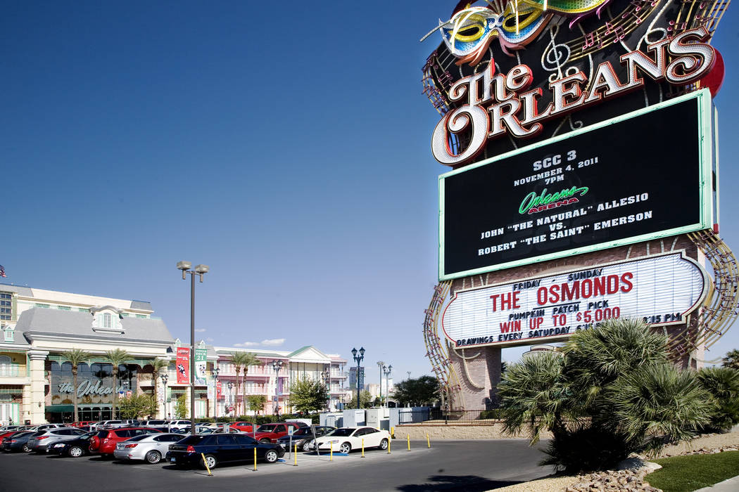 The Exterior Of Orleans Hotel At 4500 West Tropicana Avenue In Las