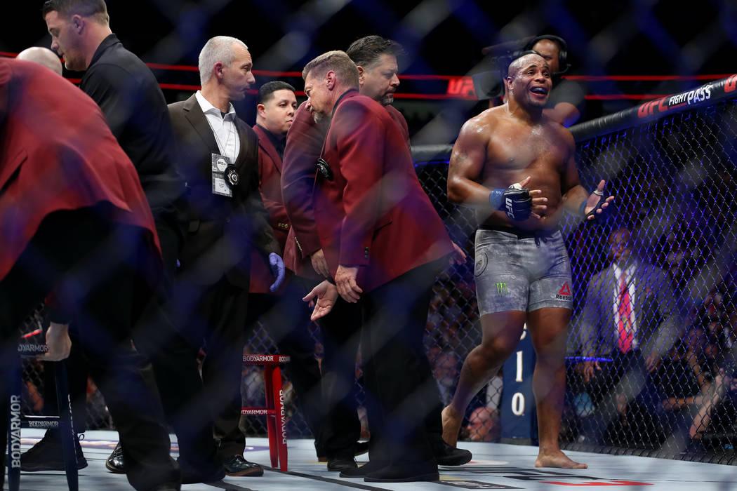 during UFC 226 at T-Mobile Arena in Las Vegas, Saturday, July 7, 2018. Erik Verduzco Las Vegas Review-Journal @Erik_Verduzco