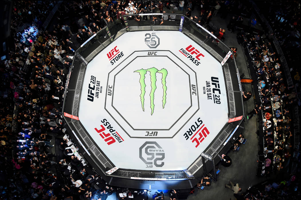 An example of the UFC's 25th anniversary canvas, including its new logo. Photo courtesy UFC