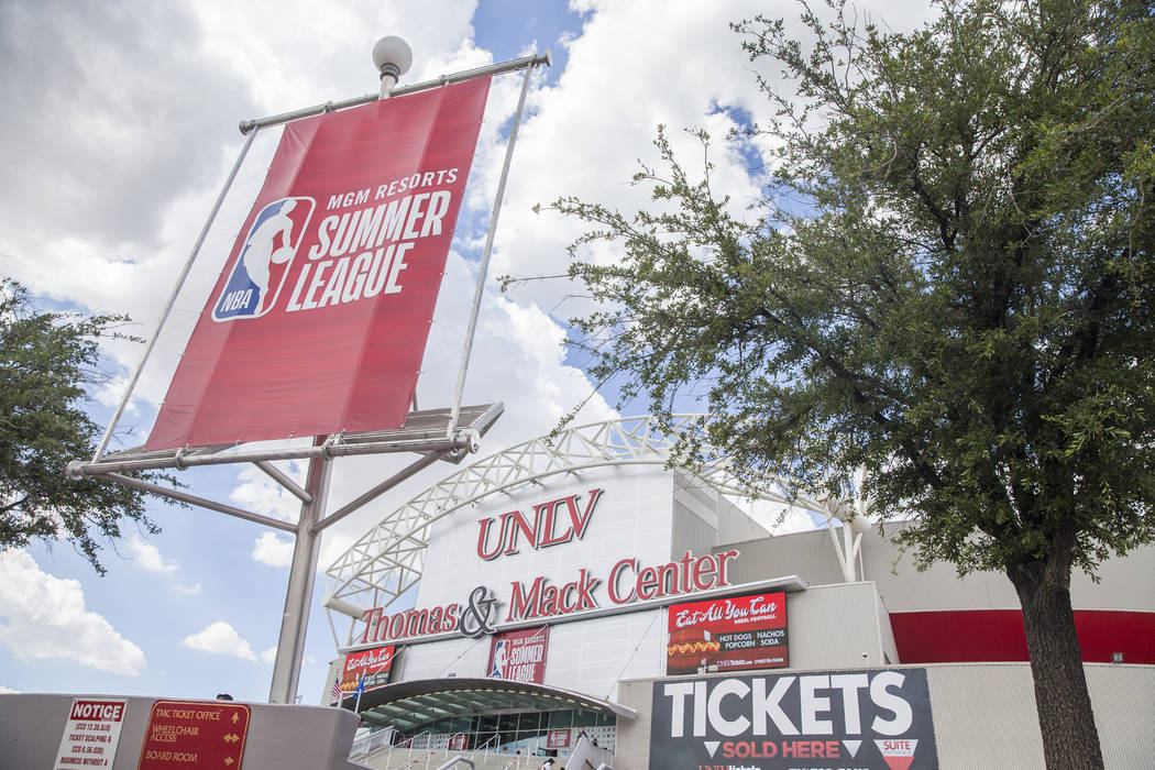 The NBA Summer League at the Thomas & Mack Center on Wednesday, July 11, 2018, in Las Vegas. Benjamin Hager Las Vegas Review-Journal @benjaminhphoto