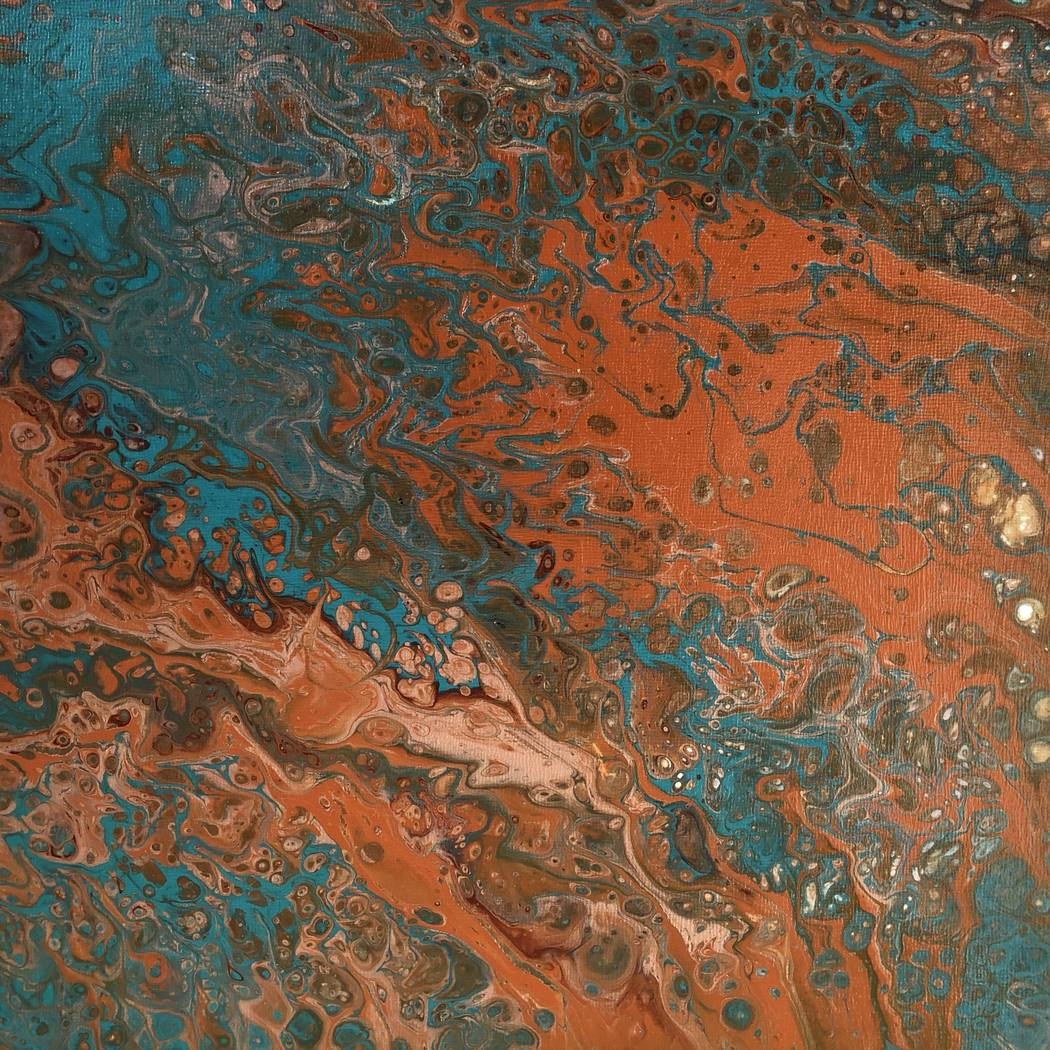 "Abstract acrylic painting from Mark Vranesh's ""Earthscapes"" exhibit."