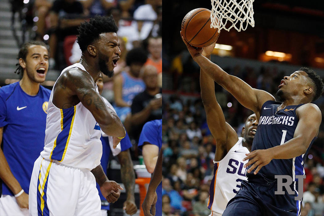 cdbcfcd745f379 A composite photo of 3 of Golden State Warriors  Jordan Bell and Dallas  Mavericks