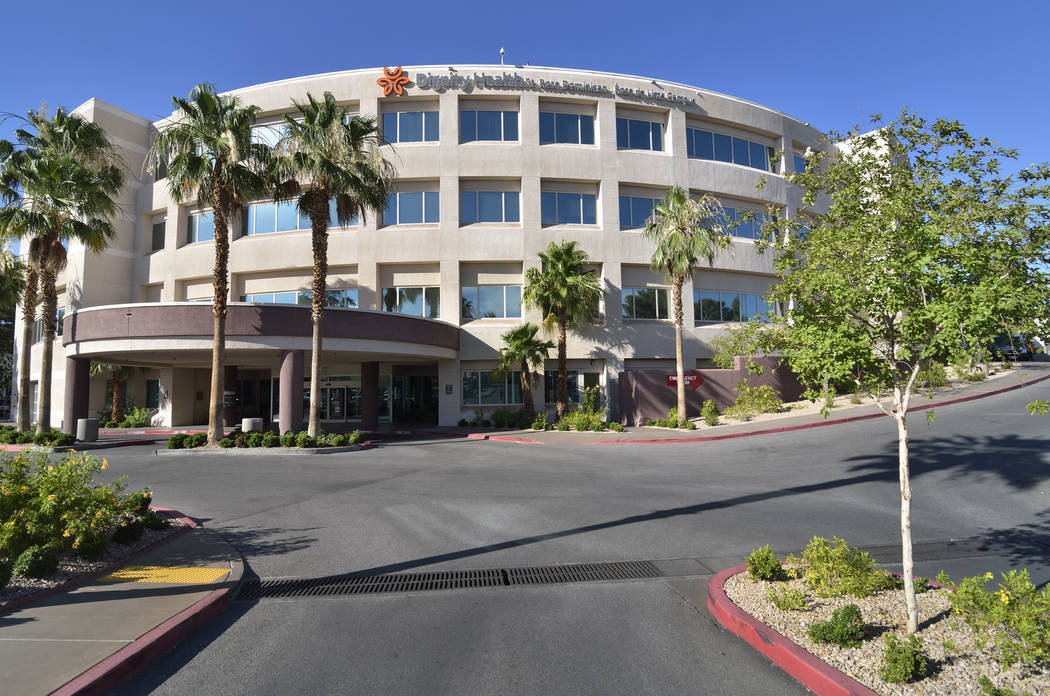 The Rose de Lima Campus of the Dignity Health St. Rose Dominican hospital is shown at 102 E. Lake Mead Parkway in Henderson. (Bill Hughes/Las Vegas Review-Journal)