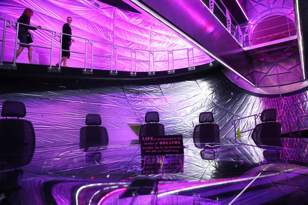 The interior of Olympus, an expandable space station module, at Bigelow Aerospace in North Las Vegas, Tuesday, July 10, 2018. Erik Verduzco Las Vegas Review-Journal @Erik_Verduzco