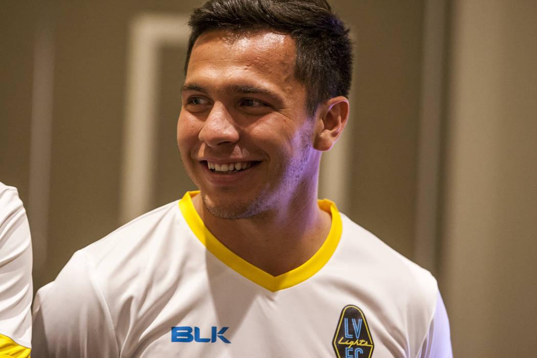 Las Vegas Lights FC midfielder Julian Portugal (26). (Patrick Connolly Las Vegas Review-Journal @PConnPie) *Age: 25 *Hometown: Las Vegas, Nevada *Previous Club/Team: Tulsa Roughnecks (USL) *Notabl ...