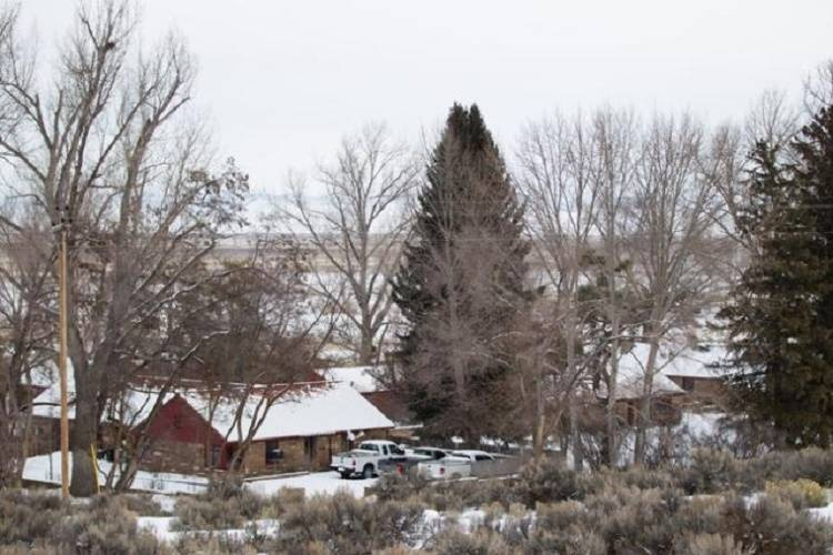 The Malheur National Wildlife Refuge headquarters, which they are occupied by anti-government protestors, are shown near Burns, Ore. on Monday, Jan. 4, 2016. The protestors, many of them armed, ar ...