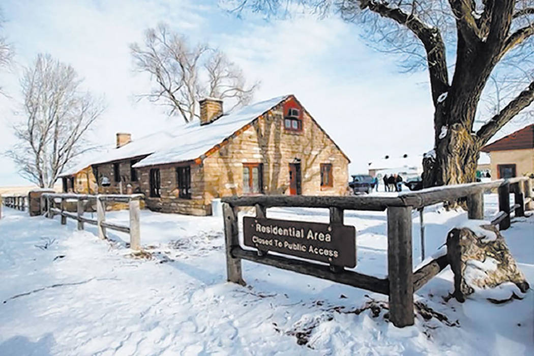 A building is shown at the Malheur National Wildlife Refuge headquarters, occupied by anti-government protestors, near Burns, Ore. on Monday, Jan. 4, 2016. (Chase Stevens/Las Vegas Review-Journal)