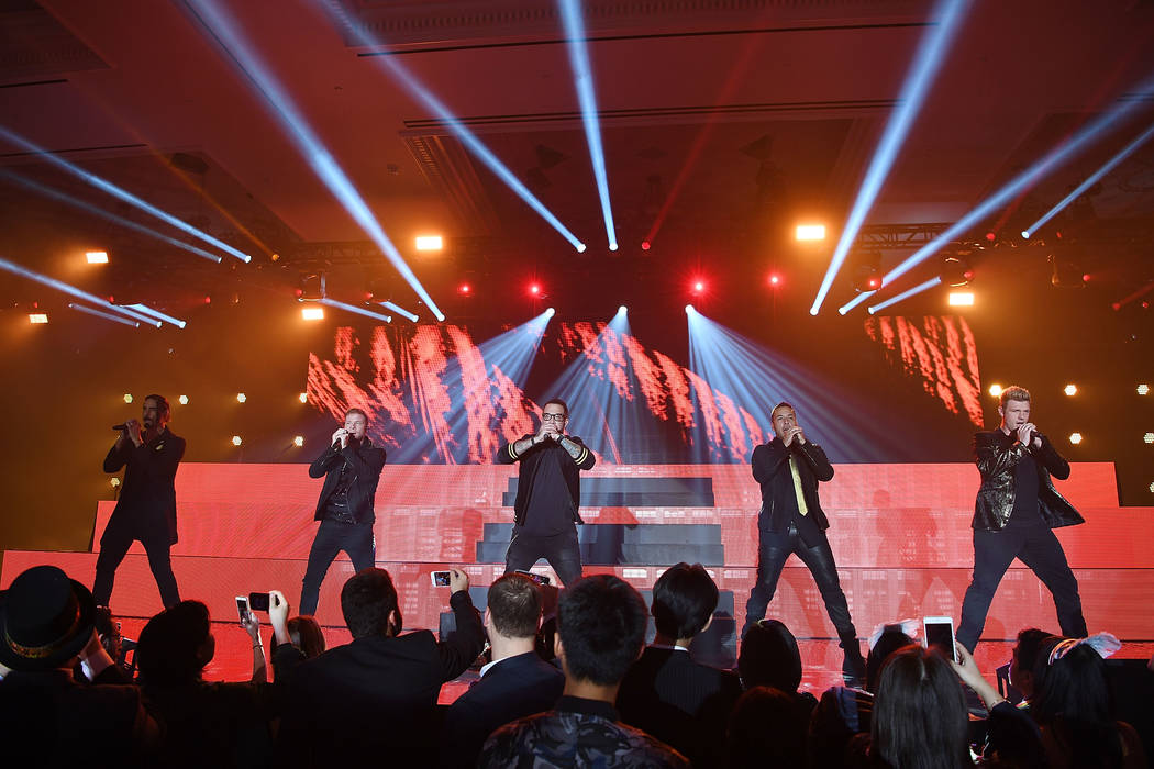 The Backstreet Boys perform at Caesars Palace on Saturday, Dec. 31, 2016, in Las Vegas. (Denise Truscello/WireImage)