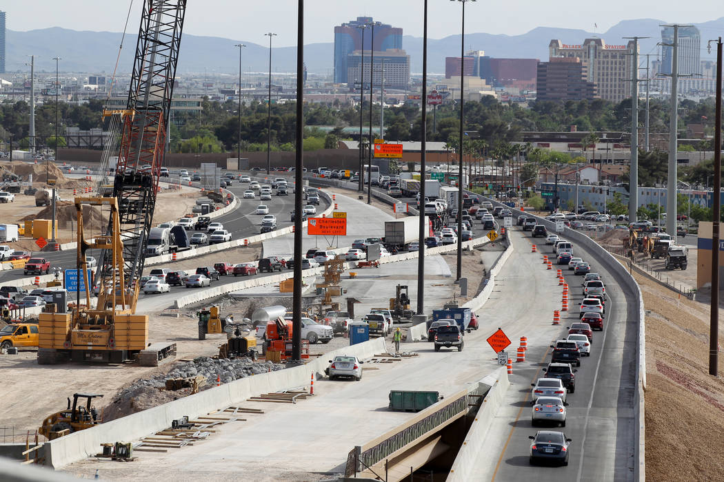 Work continues Project Neon south of the Spaghetti Bowl May, 8, 2018. K.M. Cannon Las Vegas Review-Journal @KMCannonPhoto