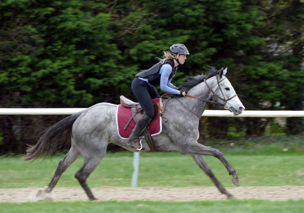 Kelsey Riley, international editor of Thoroughbred Daily News, trains for the Mongol Derby, which starts on Aug. 8. (Kelsey Riley)