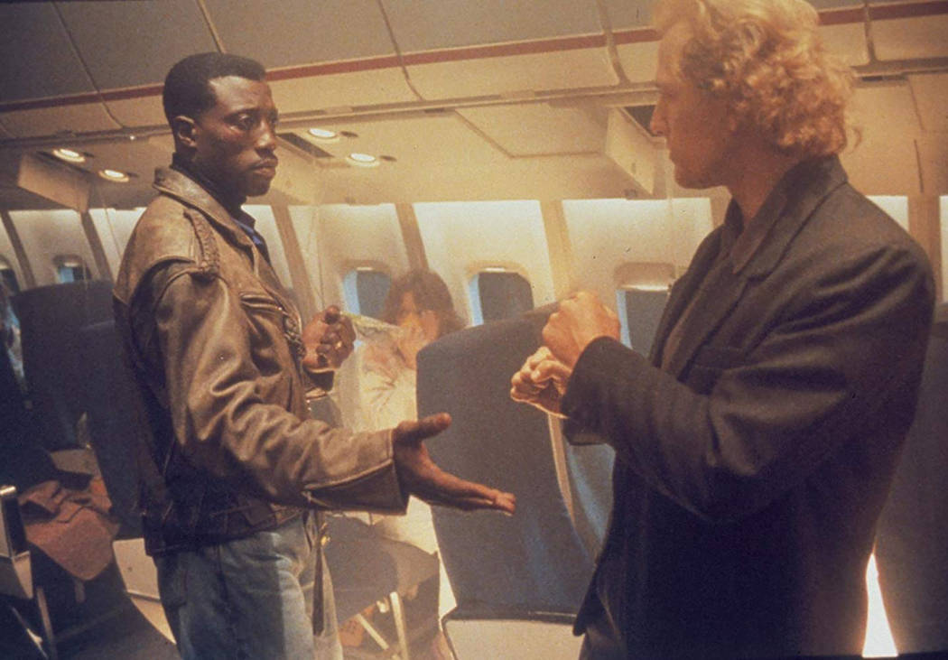 "Wesley Snipes and Bruce Payne in ""Passenger 57."" (Warner Bros.)"