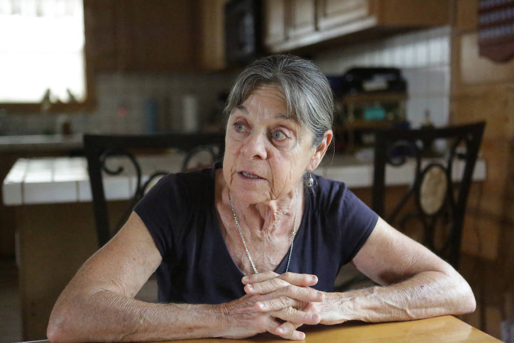 Trout Canyon home owner Donna Lamm talks about the 2013 Carpenter 1 fire on Thursday, July 12, 2018 and the difficulties property owners in the canyon have faced trying to resolve the loss of the ...