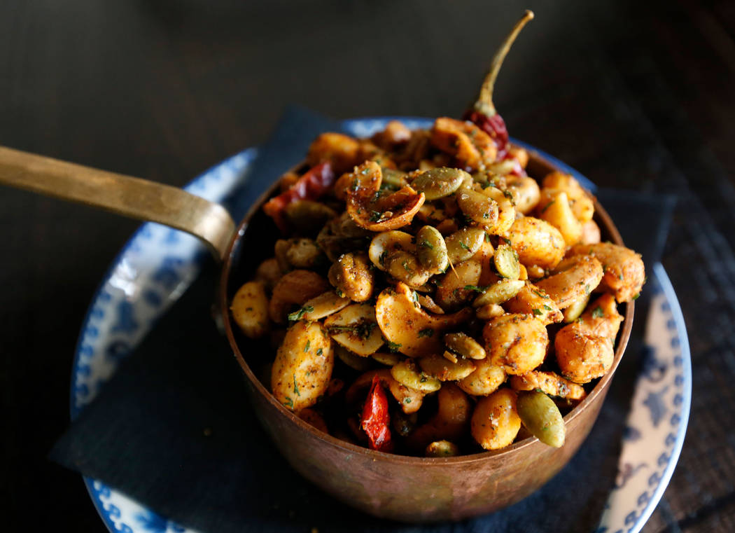 Roasted Nuts n Such is seen at The Kitchen at Atomic in Las Vegas, Wednesday, July 11, 2018. Chitose Suzuki Las Vegas Review-Journal @chitosephoto