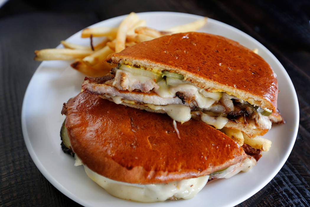 Cigar City sandwich is seen at The Kitchen at Atomic in Las Vegas, Wednesday, July 11, 2018. Chitose Suzuki Las Vegas Review-Journal @chitosephoto