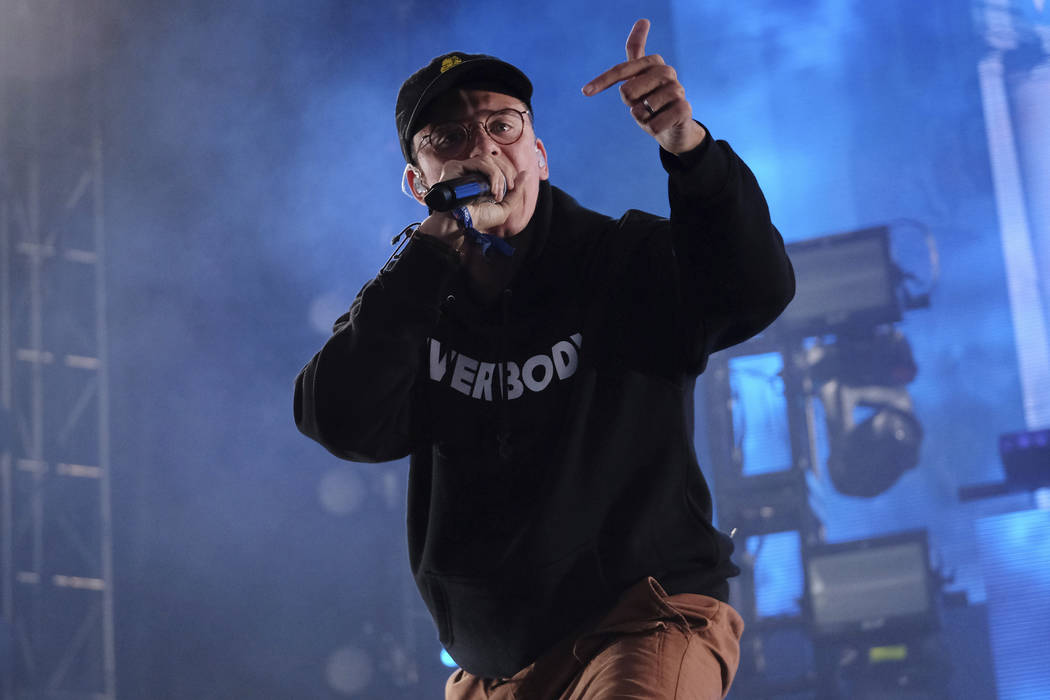 Logic performs on day three of the Governors Ball Music Festival on Sunday, June 4, 2017, in New York. (Photo by Charles Sykes/Invision/AP)
