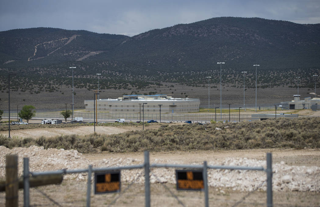 A view of Ely State Prison ahead of the execution of Scott Dozier, slated for Wednesday, in Ely on Tuesday, July 10, 2018. Chase Stevens Las Vegas Review-Journal @csstevensphoto