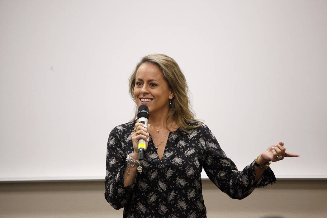 Missy Young, chief information officer for SWITCH, talks about how coding will be a future necessary skill in Nevada's growing workforce at a launch event for coding classes coming in the fall at ...