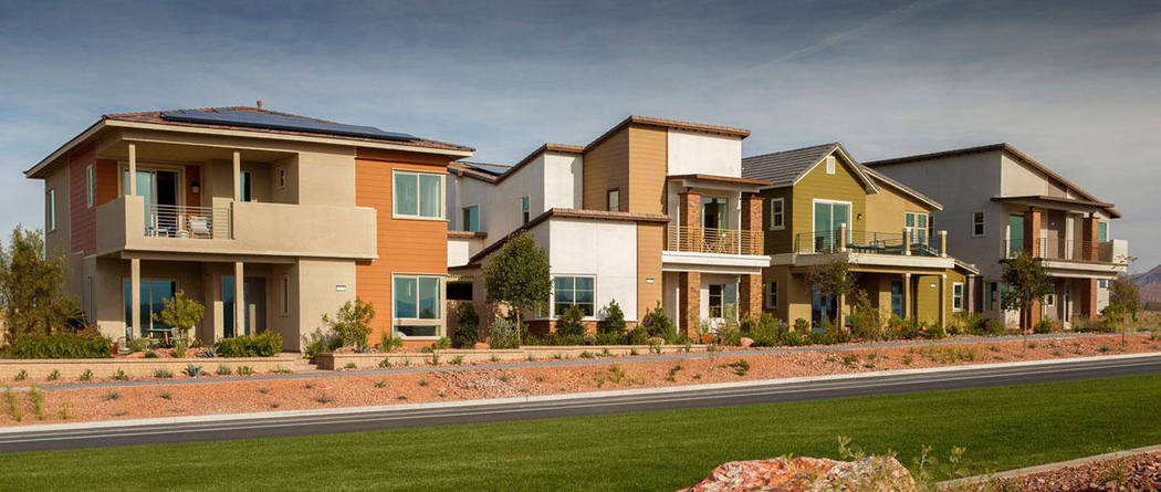 Woodside Homes offerings at Cadence in Henderson. (Smith Team at Keller Williams)