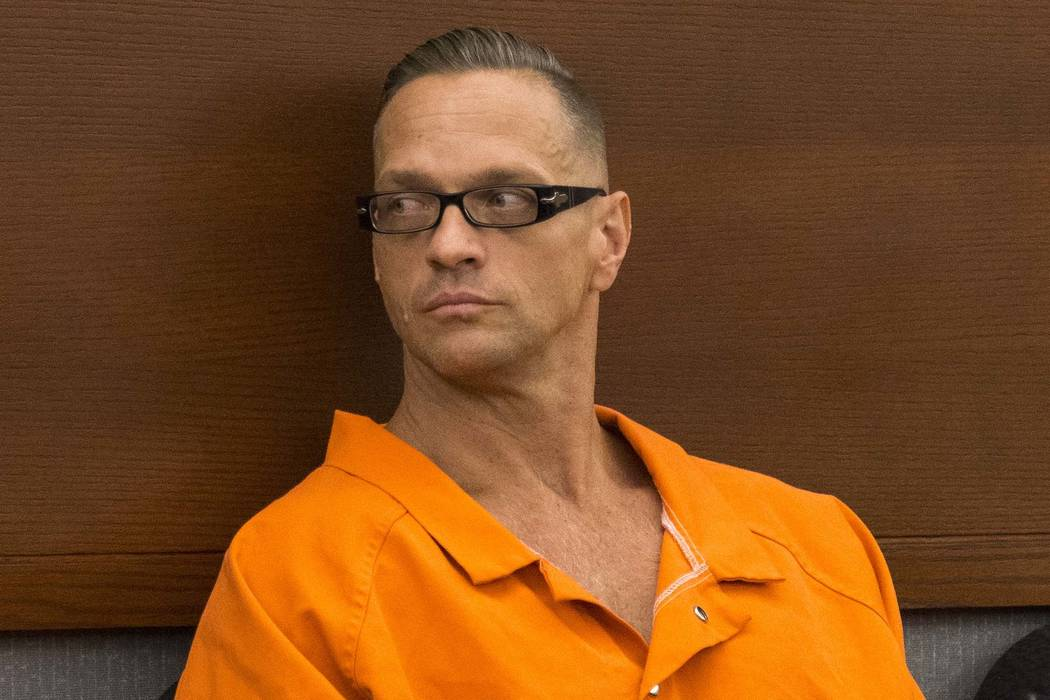 Death row inmate Scott Dozier appears before District Judge Jennifer Togliatti during a hearing at the Regional Justice Center on Sept. 11, 2017, in downtown Las Vegas. A ruling by another judge h ...