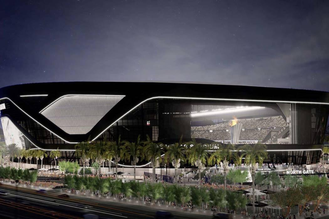 Rendering of the new Raiders stadium being constructed in Las Vegas. (Las Vegas Stadium Authority)