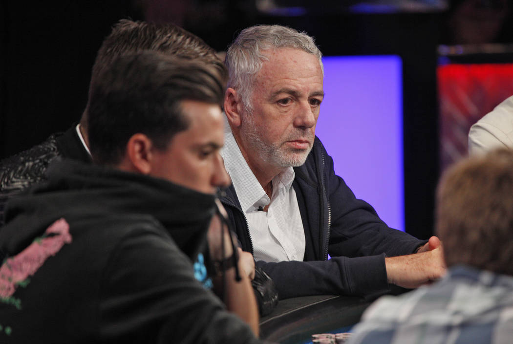 Harri Bercovici on the seventh day of the World Series of Poker at the Rio Convention Center in Las Vegas, Wednesday, July 11, 2018. By the end of the night there will be only nine players left. R ...