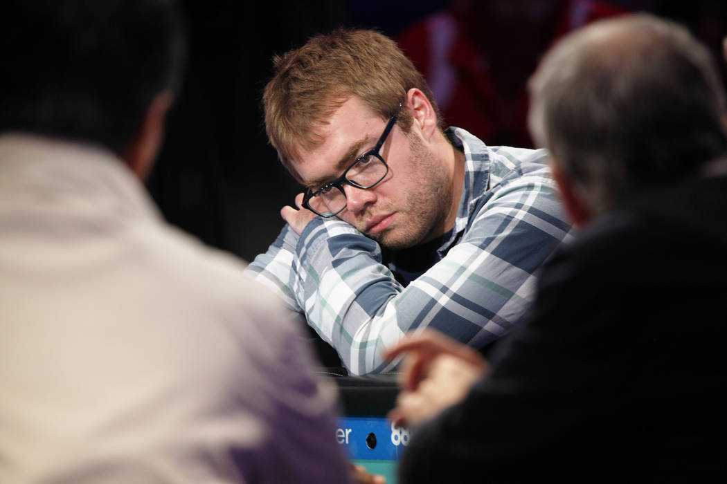 Michael Dyer on the seventh day of the World Series of Poker at the Rio Convention Center in Las Vegas, Wednesday, July 11, 2018. By the end of the night there will be only nine players left. Rach ...