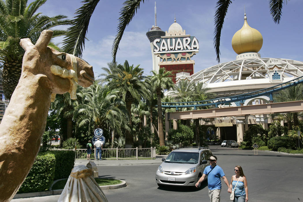 The former Sahara on the Las Vegas Strip, May 26, 2006. (John Locher/Las Vegas Review-Journal)