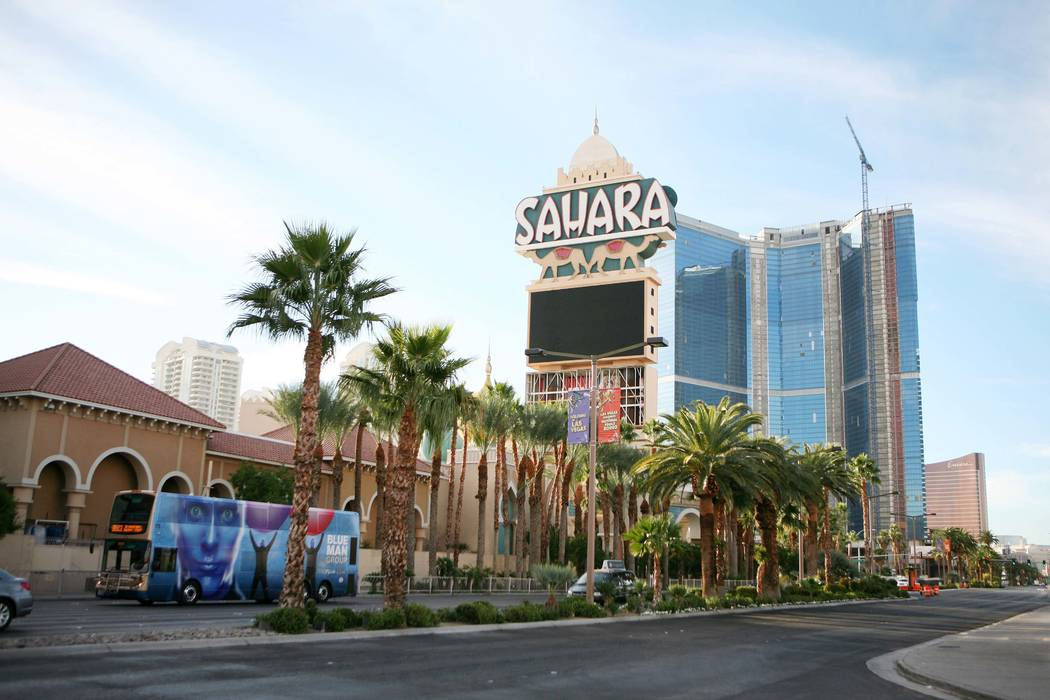 The closed Sahara as seen on Monday, Dec. 3, 2012, on the Las Vegas Strip. (Ronda Churchill/Las Vegas Review-Journal)