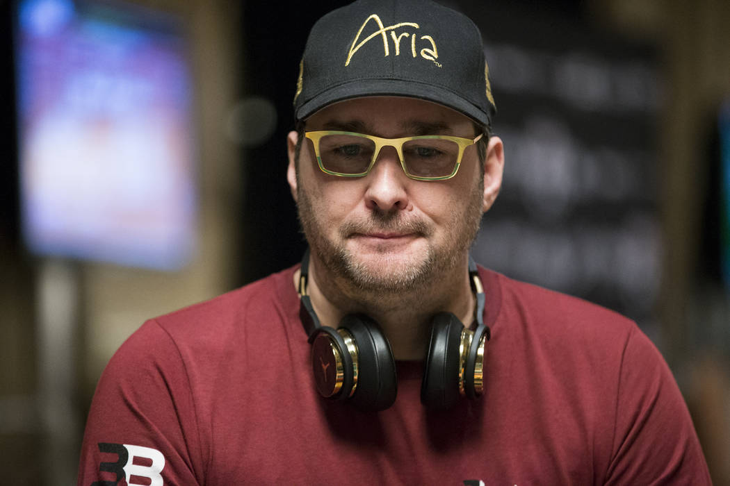 Phil Hellmuth during the World Series of Poker Main Event at the Rio Convention Center in Las Vegas, Saturday, July 8, 2017. (Erik Verduzco/Las Vegas Review-Journal) @Erik_Verduzco