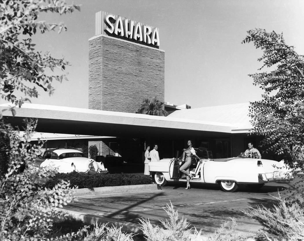 Sahara hotel-casino pictured in 1954. (Las Vegas Review-Journal File Photo)
