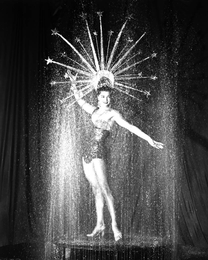 The aquatic legend Esther Williams, credited as inventor of the swimming musical, brought her water show to the Sahara hotel-casino in 1954. (Review-Journal File Photo)