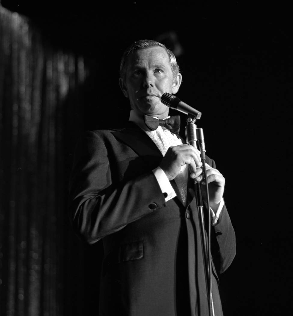 Johnny Carson opening at the Sahara hotel-casino in 1970. (Review-Journal File Photo)