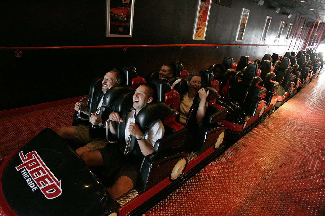 """The Sahara hotel-casino featured a rollercoaster called """"Speed: The Ride"""" shown in 2007. (Las Vegas Review-Journal File Photo)"""