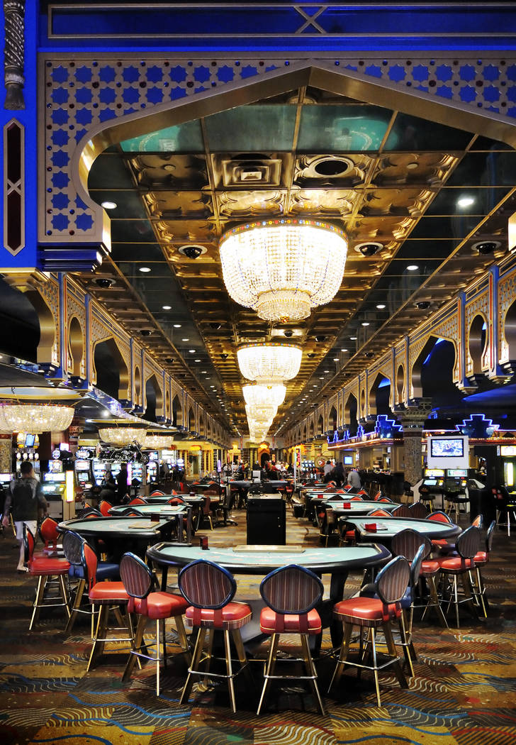Interior view of the gaming floor at the Sahara hotel-casino in 2011. (Bill Hughes/Las Vegas Review-Journal)