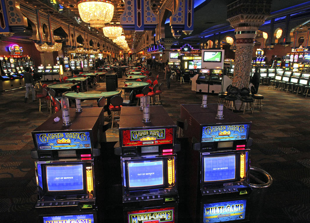 Interior view of the gaming floor at the Sahara hotel-casino in 2011. (Las Vegas Review-Journal File Photo)