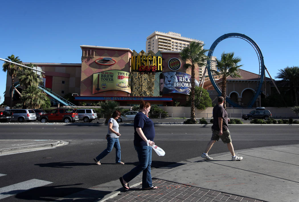 The closed Sahara hotel-casino pictured in November of 2011. (Las Vegas Review-Journal File Photo)