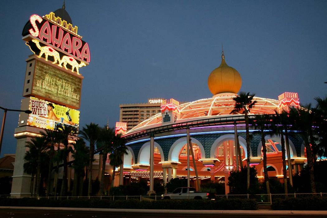 The Sahara hotel-casino pictured in 2005. (Review-Journal File Photo)