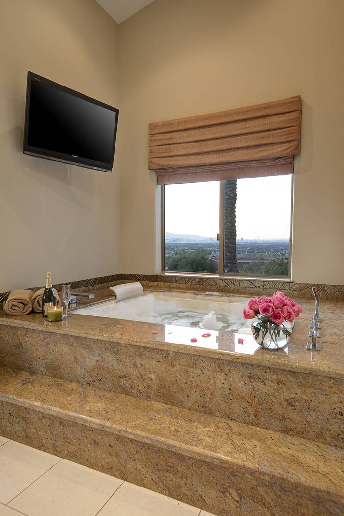 The master bath is like a spa. Synergy/Sotheby's International Realty