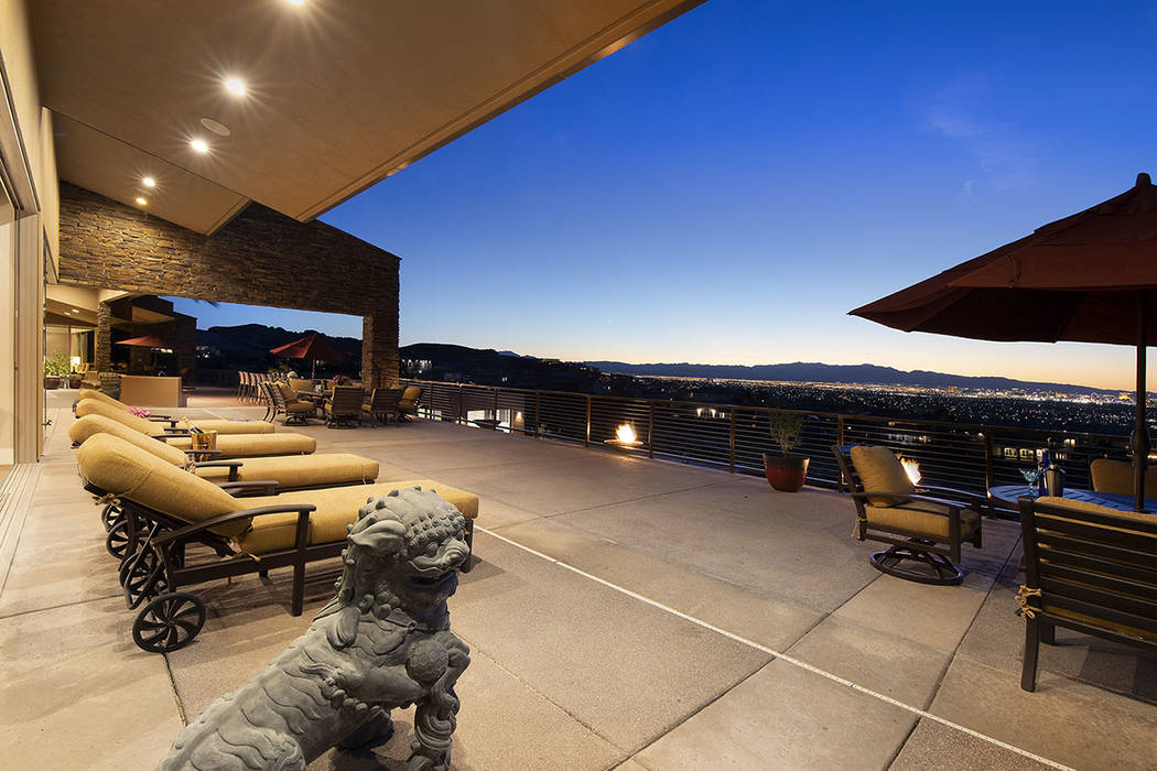 The estate has views of the Strip. (Synergy/Sotheby's International Realty)