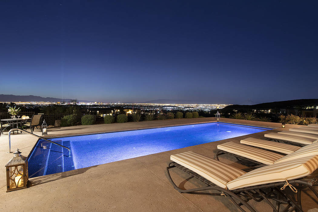 Strip views by the pool. (Synergy/Sotheby's International Realty)