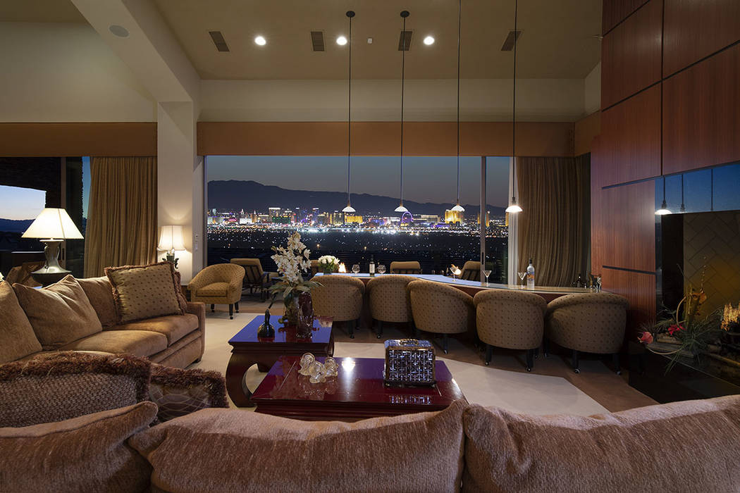 The home has sweeping views of the Strip. (Synergy/Sotheby's International Realty)