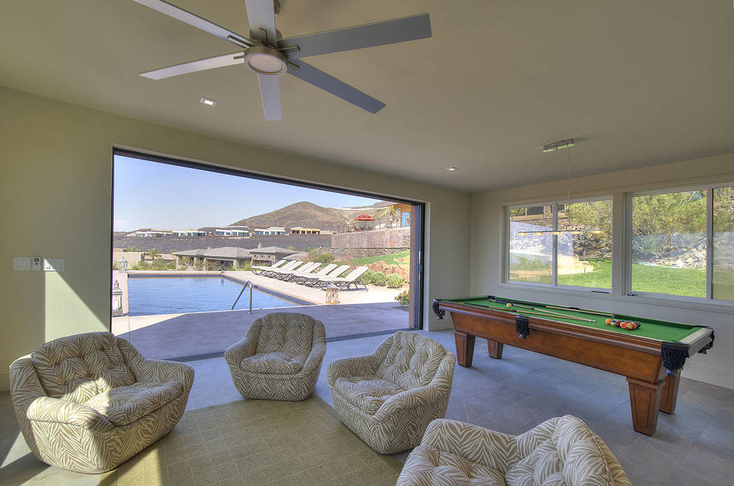 The pool house. (Synergy/Sotheby's International Realty)