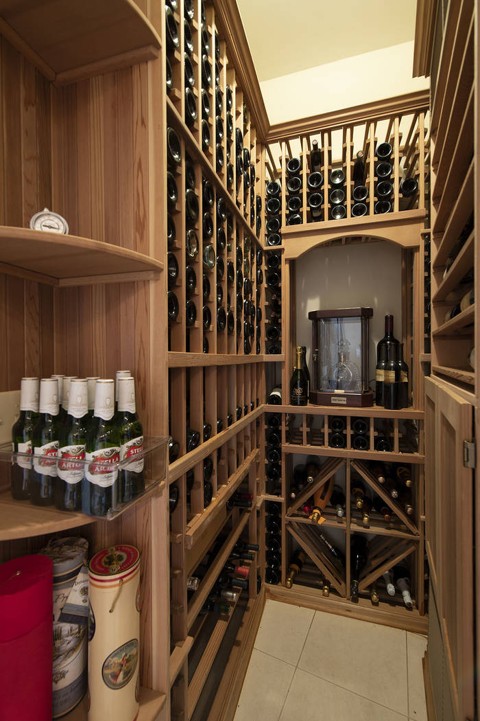 The wine cellar. (Synergy/Sotheby's International Realty)