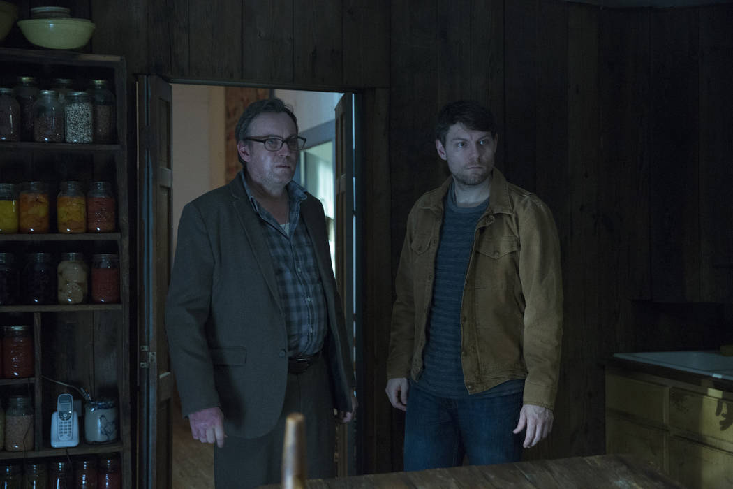 """Philip Glenister, left, and Patrick Fugit star in """"Outcast."""" (Kent Smith/CINEMAX)"""